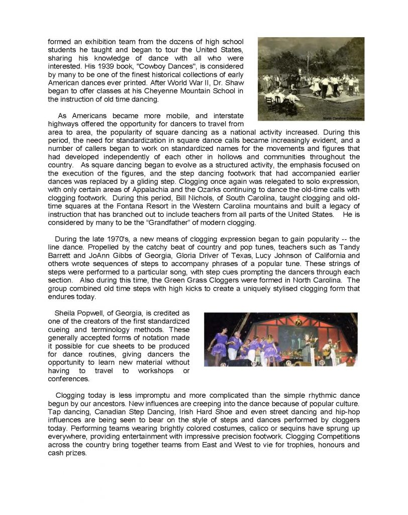 clogging history page 2